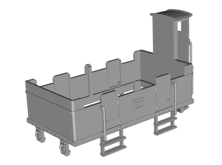 HOe-wagon06 - Crate of passenger wagon N°3 3d printed