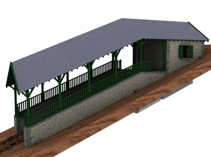 HOfunMD11 - Mont Dore funicular station 3d printed