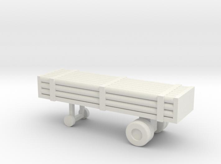 1/200 Scale Nitrogen Tank Trailer 3d printed