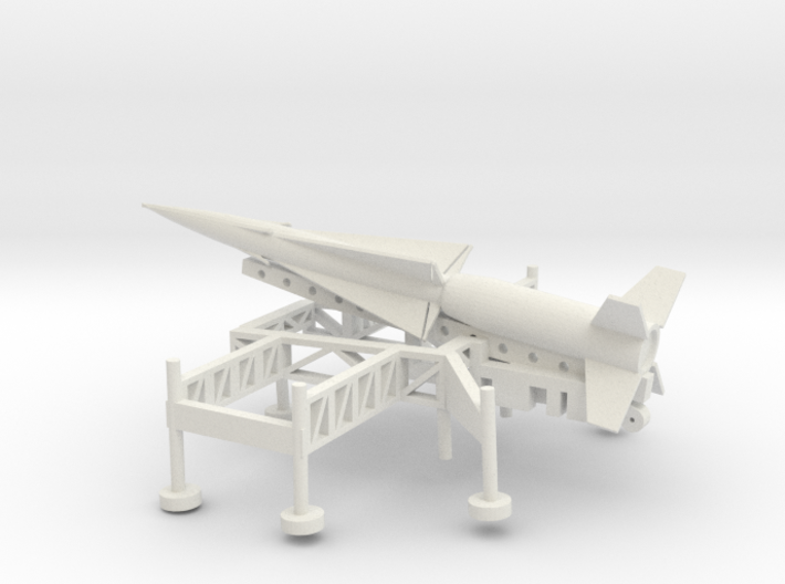 1/100 Scale Nike Ajax Laucher And Missile 3d printed