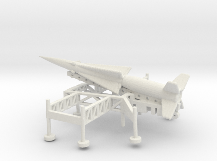 1/285 Scale Nike Ajax Laucher And Missile 3d printed