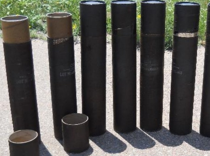 1/16 scale Howitzer 105mm ammo containers x 30 3d printed