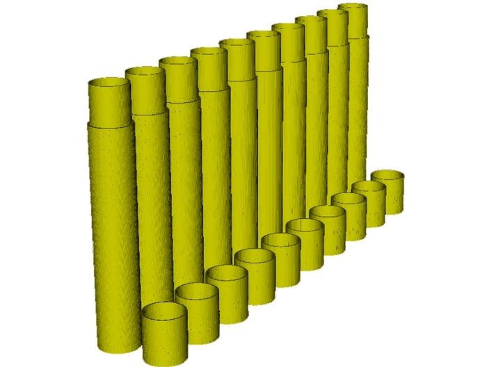 1/16 scale Howitzer 105mm ammo containers x 10 3d printed