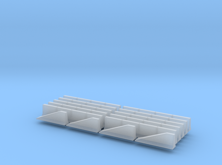 N Scale Jersey Barrier 10 each 20ft 3d printed