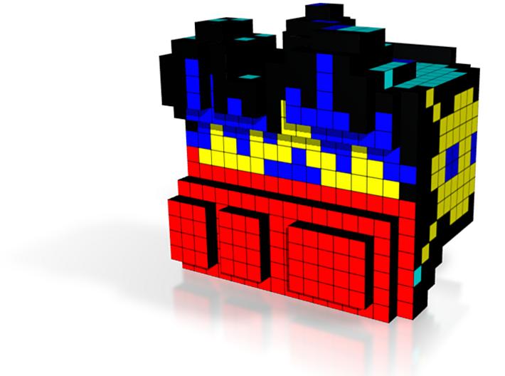 8-bit cutout (Missle Command) 3d printed
