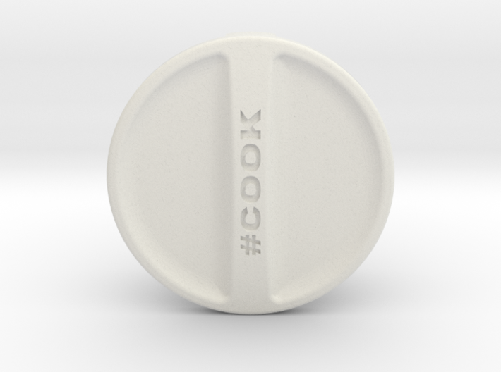 """KitchenAid Stand Mixer Replacement Cap """"#Cook"""" 3d printed"""
