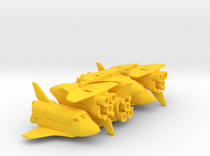 Six Funny Space Shuttle keychains 3d printed