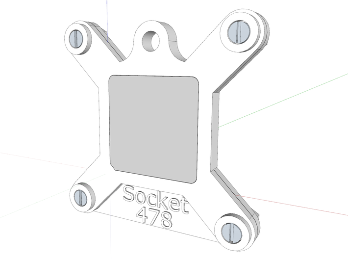 Socket 478 CPU Bauble Single 3d printed The assembly, as viewed in Sketchup.