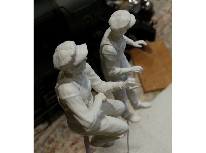 Pippin Leaning out cab window NG 3d printed Photo of the seated and standing model, primed