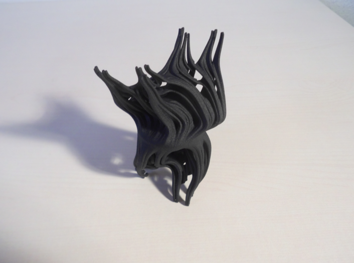 2 kinds of Julia set 3d printed This is actually the new Black HP Strong and Flexible Material (not yet for sale)