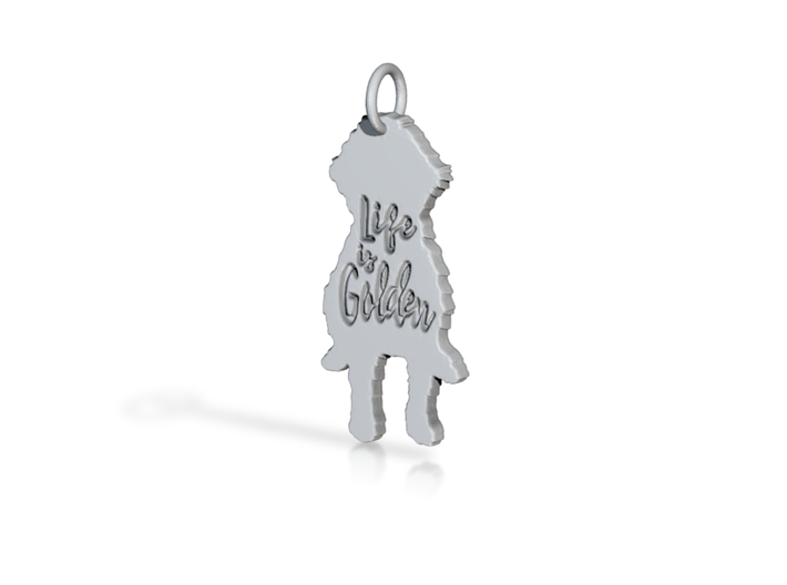 Goldendoodle Pendant - Life is Golden 3d printed