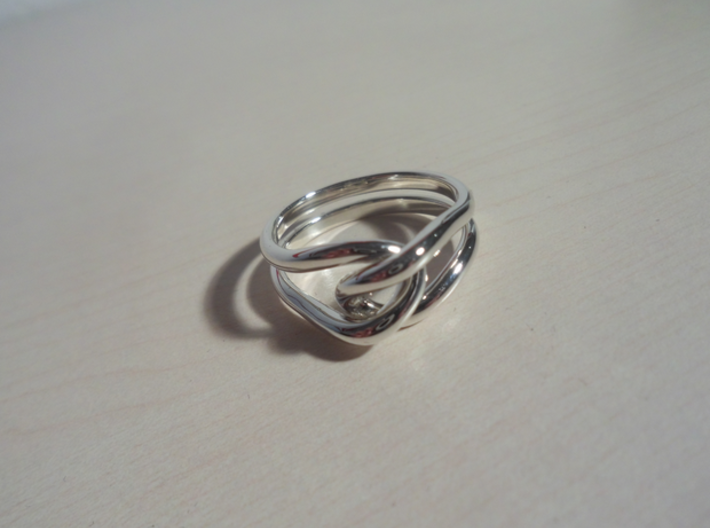 Whitehead ring (US sizes 5.75 – 9.75) 3d printed Premium silver, size 13.0