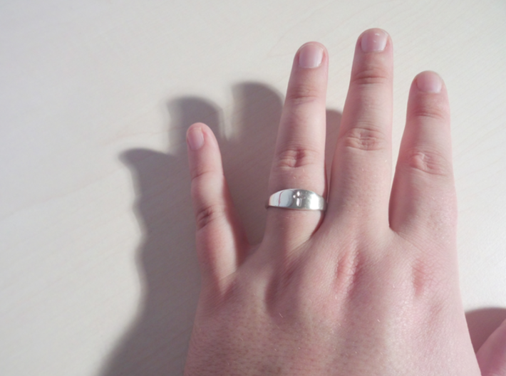 Cross ring A (US sizes 10 – 13) 3d printed Slightly worn
