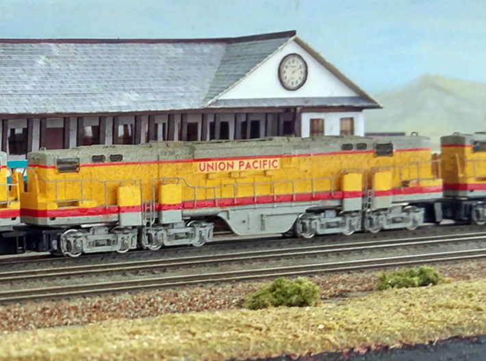 N Scale Alco C-855B Locomotive Shell Deluxe 3d printed