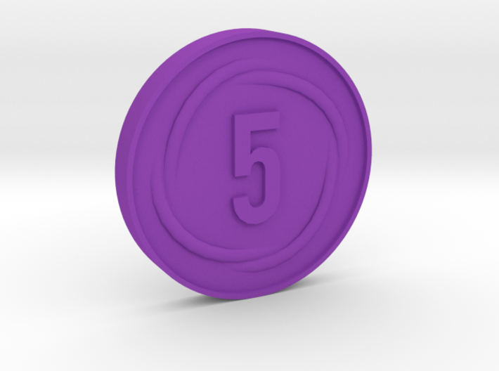 5 Coin 3d printed