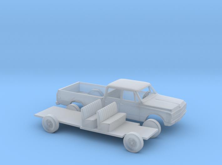 1/87 1967-69 Chevrolet C-Series Crew Cab Kit 3d printed