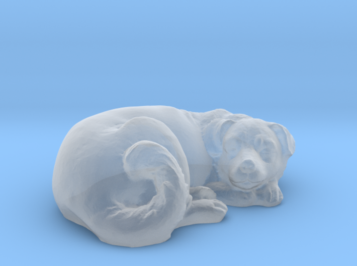 1/64 Dog Sleeping for Diorama 3d printed