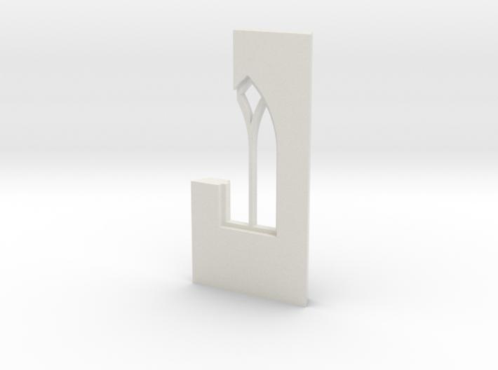 shkr039 - Teil 39 Seitenwand mit Fenster1-2 abgebr 3d printed