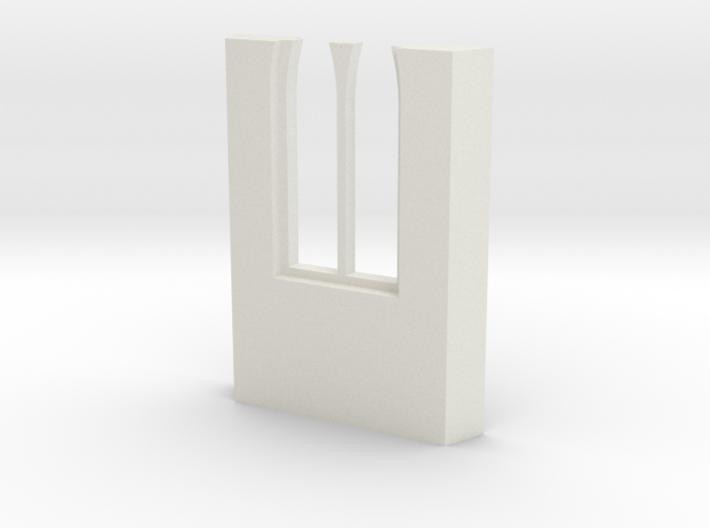 shkr046 - Teil 46 Seitenwand mit Fenster1-3 abgebr 3d printed