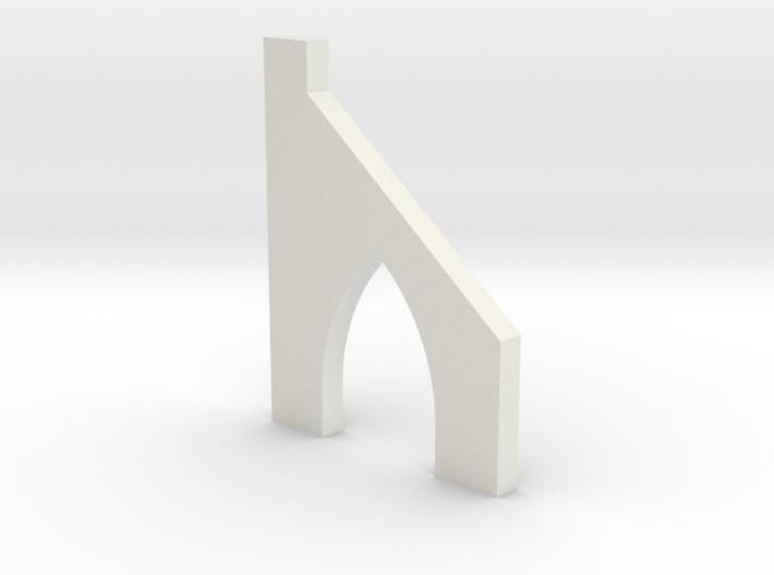 shkr054 - Teil 54 Stützmauerpfeiler mit Durchgang 3d printed