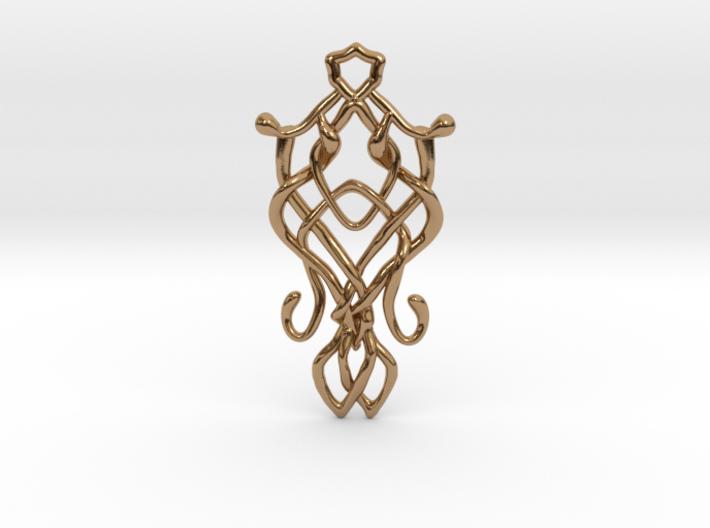 Art Nouveau Pendant 3d printed
