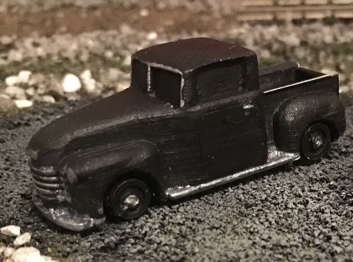 Chevy Truck 1951 Shell (Ho scale) 3d printed