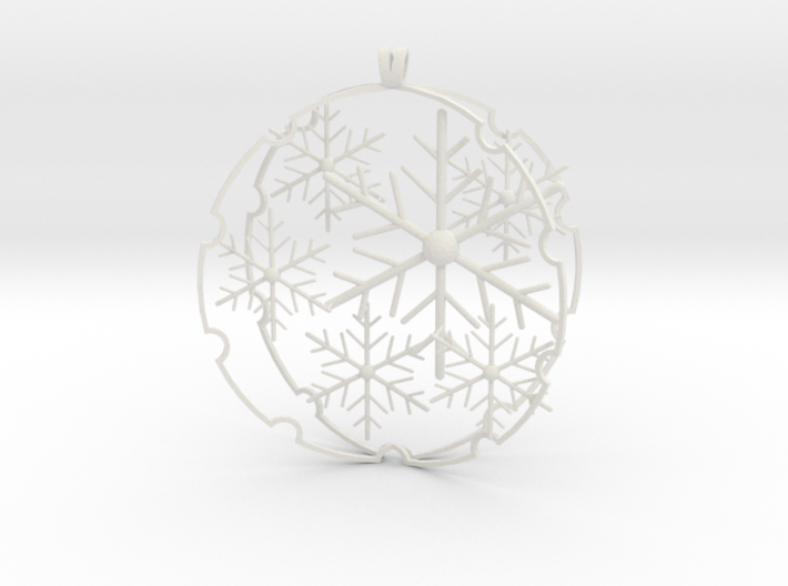 Snowball decoration 3d printed