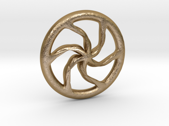 Ancient celtic wheel charioteer's pendant 3d printed