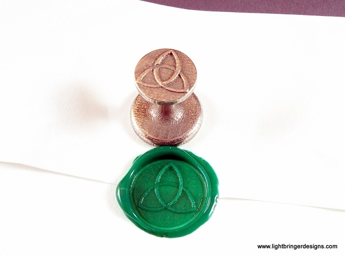 Trinity Wax Seal 3d printed The seal and its wax impression