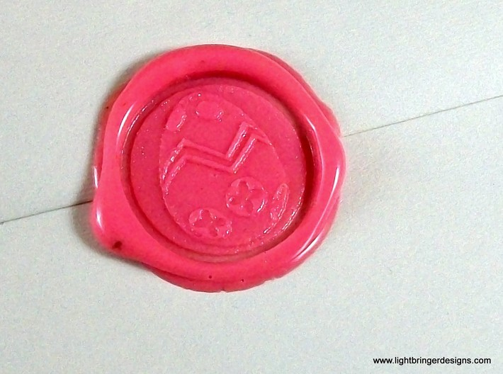 Easter Egg Wax Seal 3d printed Just the wax, in Bubblegum Pink