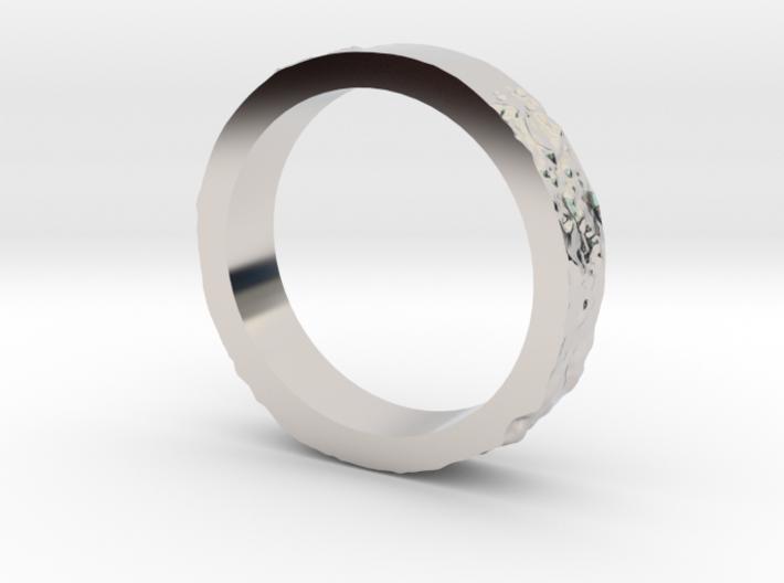 Lunar Landing Site Female (Thin) Moon Ring 3d printed