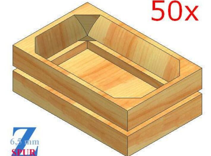 50x Obstkisten (1/220) 3d printed Modellbild