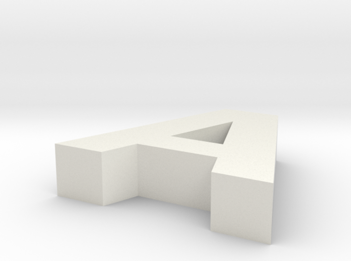 Letter_A 3d printed