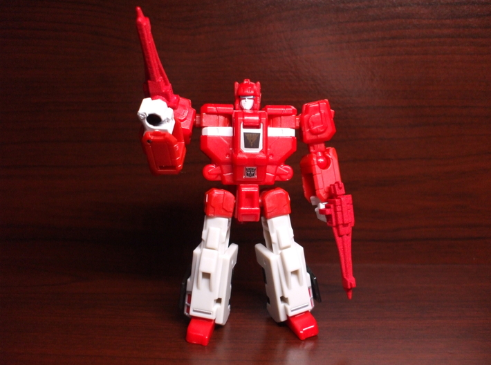 Gravity-Rod Rifles for TR Cloudraker 3d printed painted red