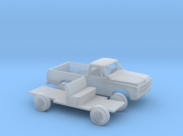 1/160 1967-69 Chevy C-Series Short Bed Kit 3d printed