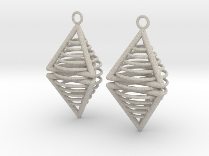 Pyramid triangle earrings serie 3 type 8 3d printed