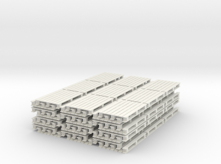 64 Europaletten in 1:45 (Spur 0) 3d printed