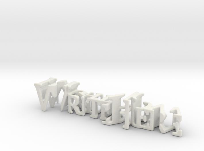 3dWordFlip: WriteHere/RightNow 3d printed