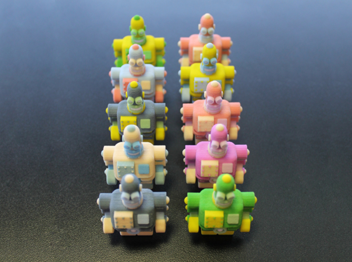USB Robot's Army 3d printed Look at us all in a perfect formation