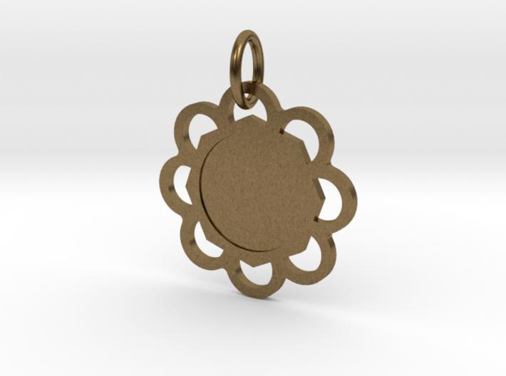 Custom Hexagon Pendant 3d printed