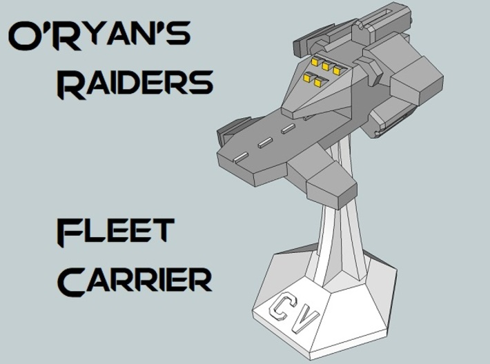 MicroFleet O'Ryan's Raiders Carrier Group (21pcs) 3d printed