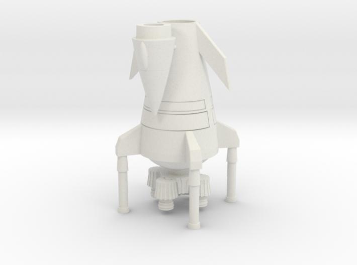 Landed Rocket Ship (Smallest Version) 3d printed