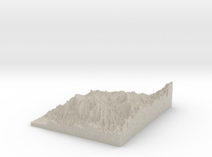 Model of Rough Creek 3d printed