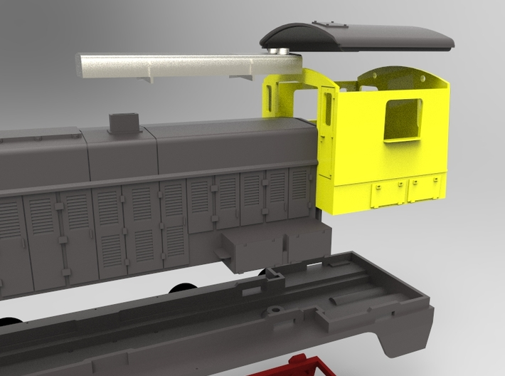 NS 2200 Demper, Scale 0 (1:45) 3d printed