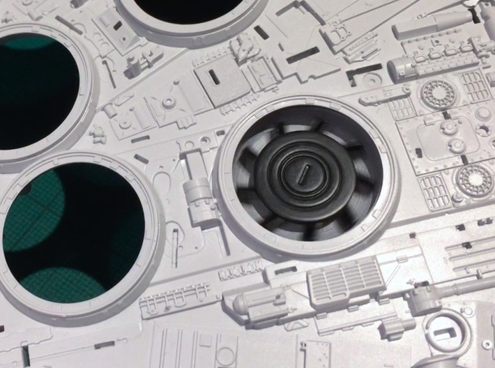 Perfect Grade Falcon, 1:72, motorizable fans FUD 3d printed One of the fans in action! Painted black