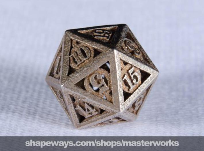 Deathly Hallows d20 3d printed Stainless Steel