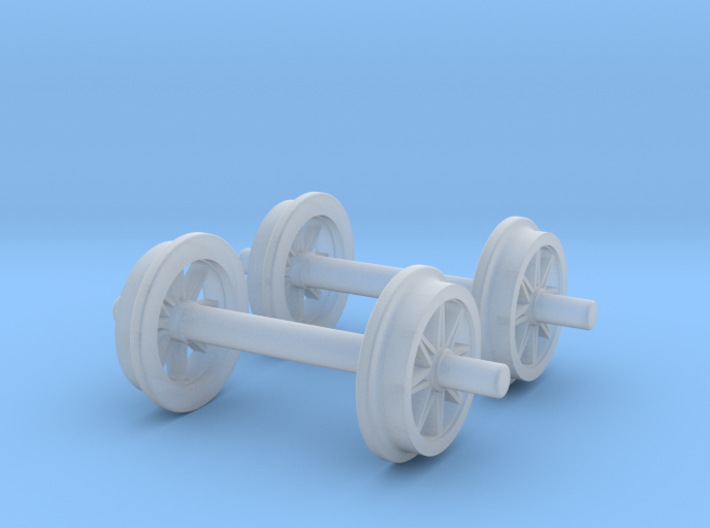 0m wheels - open spokes - Normal 3d printed