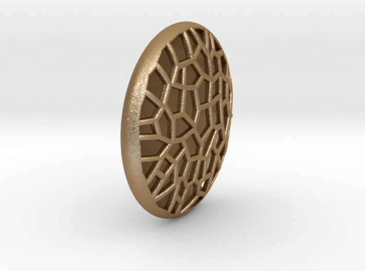 Bio Cell Pendant - closed back 3d printed