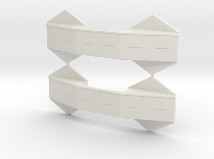 1/285th scale Bridge set (2 pieces) 3d printed