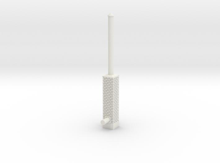Building Side Brick Exhaust Stack N Scale 3d printed